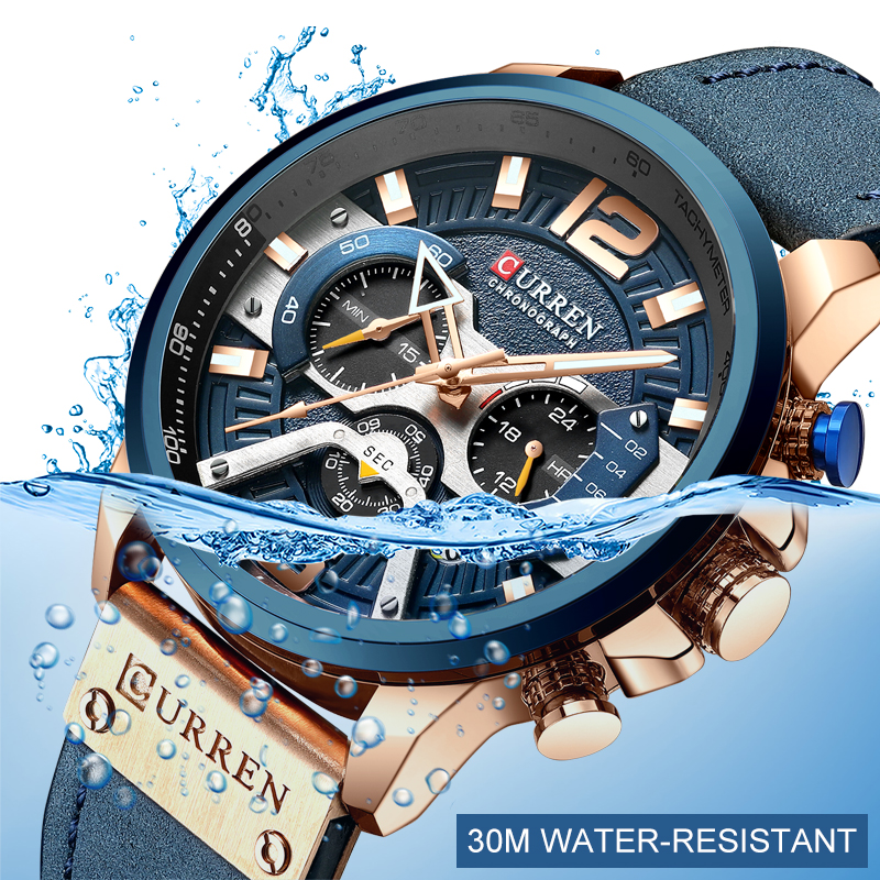 CURREN Luxury Brand Men Analog Leather Sports Watches Men's Army Military Watch Male Date Quartz Clock Relogio Masculino 2019 5