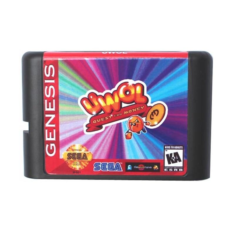 UWOL Quest For Money 16 bit MD Game Card For Sega Mega Drive For Genesis