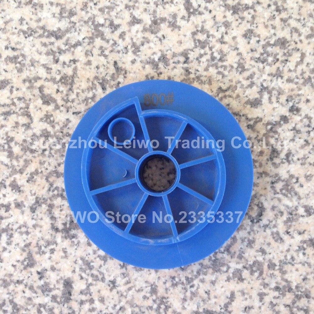Snail Lock Edge Polishing Pad 5 inch 125 mm for Beveled Granite Resin Circle Polishing Wheels