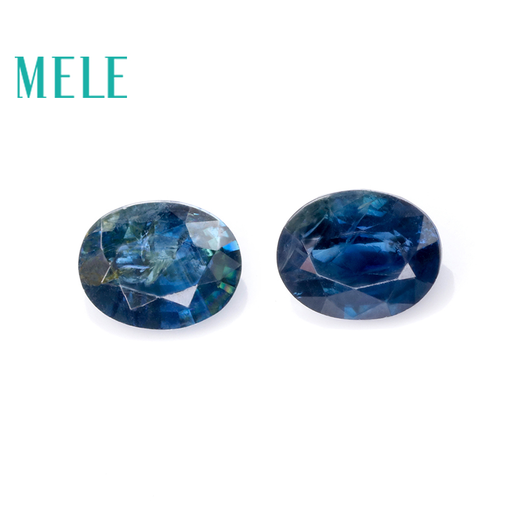 Natural Blue Sapphire loose gemstone for jewelry making3.5*4.5mm oval 0.6ct 2p fine jewelry DIYstones with High quality