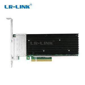 Image 2 - LR LINK 9804BT 10Gb Nic karta sieciowa ethernet Quad port pci express karta lan adapter sieci Intel X710 T4 kompatybilny