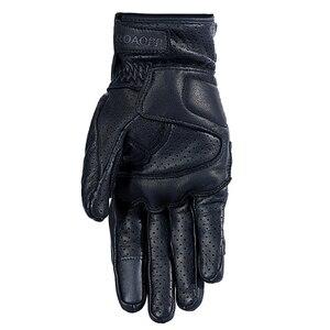 Image 4 - Nuoxintr oddychające rękawice motocyklowe skóra pełna osłona palca rękawice motocrossowe Downhill jazda na rowerze rękawice wyścigowe