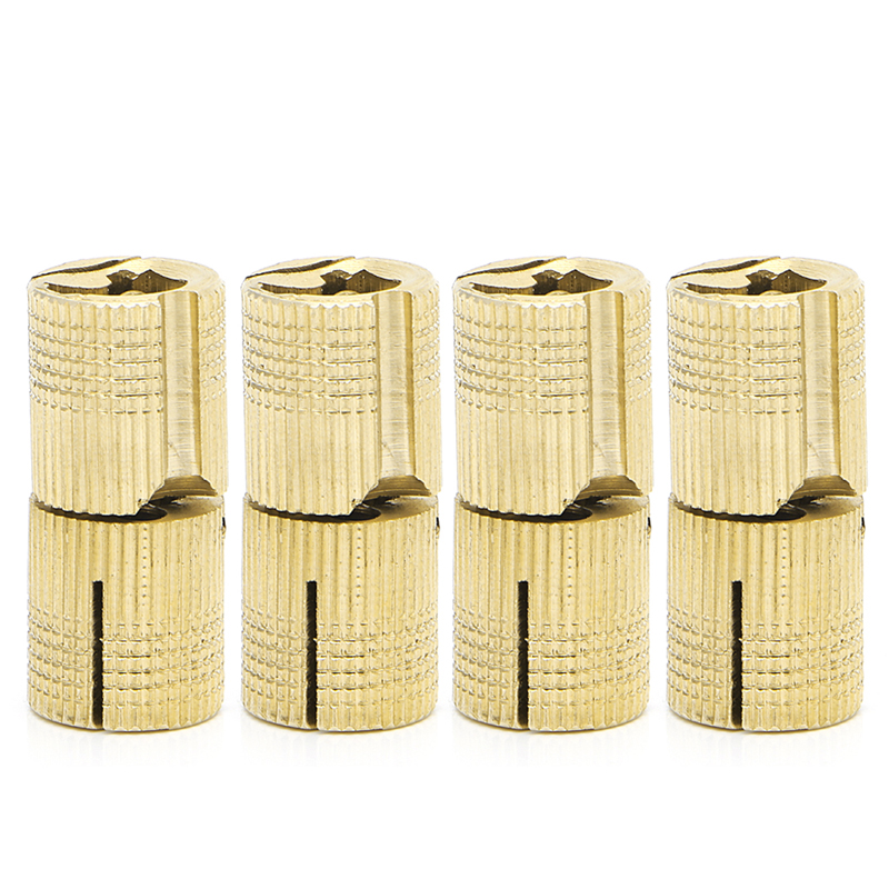 4 Pcs 14mm Brass Barrel Cabinet Cylindrical Hidden Concealed Invisible Hinge 10pc pure gold copper brass wine jewelry box hidden invisible concealed barrel hinge finely machined mechanisms