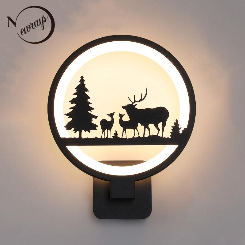 цена на Modern minimalist cartoon resin creative wall lamp LED 220V with button switch wall lights for bedroom hallway parlor hotel bar