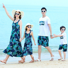 Holiday family matching outfits look mother daughter dresses dad son mommy and me clothes mom beachwear clothing