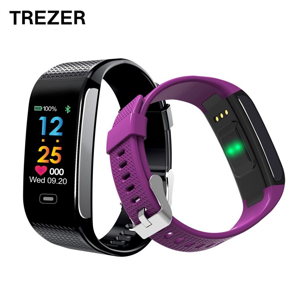 TREZER CK18S Smart Wristband Blood Pressure Heart Rate Smart Watch Fitness Bracelet Tracker Pedometer Smart Wristband PK CK11S