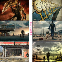 Fallout posters Art paper prints posters high definition good quality no frames waterproof vivid color(China)