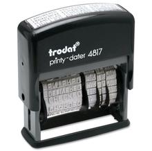 Trodat 4817 ANSWERED  BACKORDERED  CANCELLED BILLED RECEIVED E MAILED CHECKED ENTERED  PAID SHIPPED SHIPPED FAXED Date Stamp