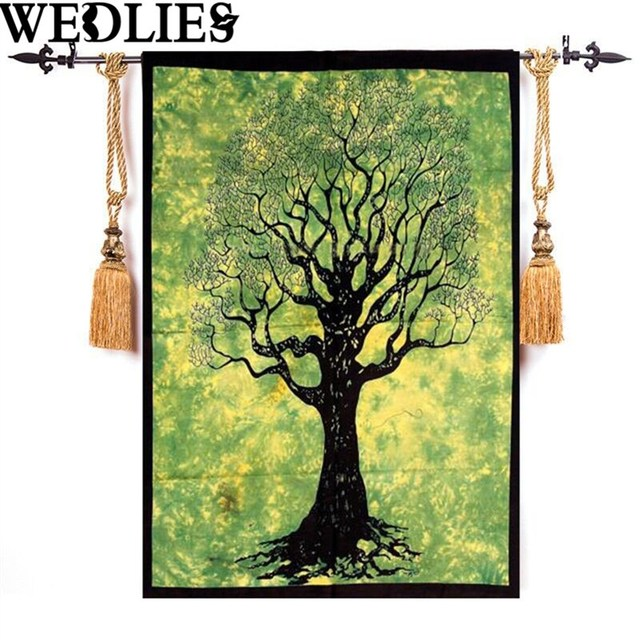 New Bath Towel Tapestry Indian Tree Of Life Wall Hanging Tie Dye