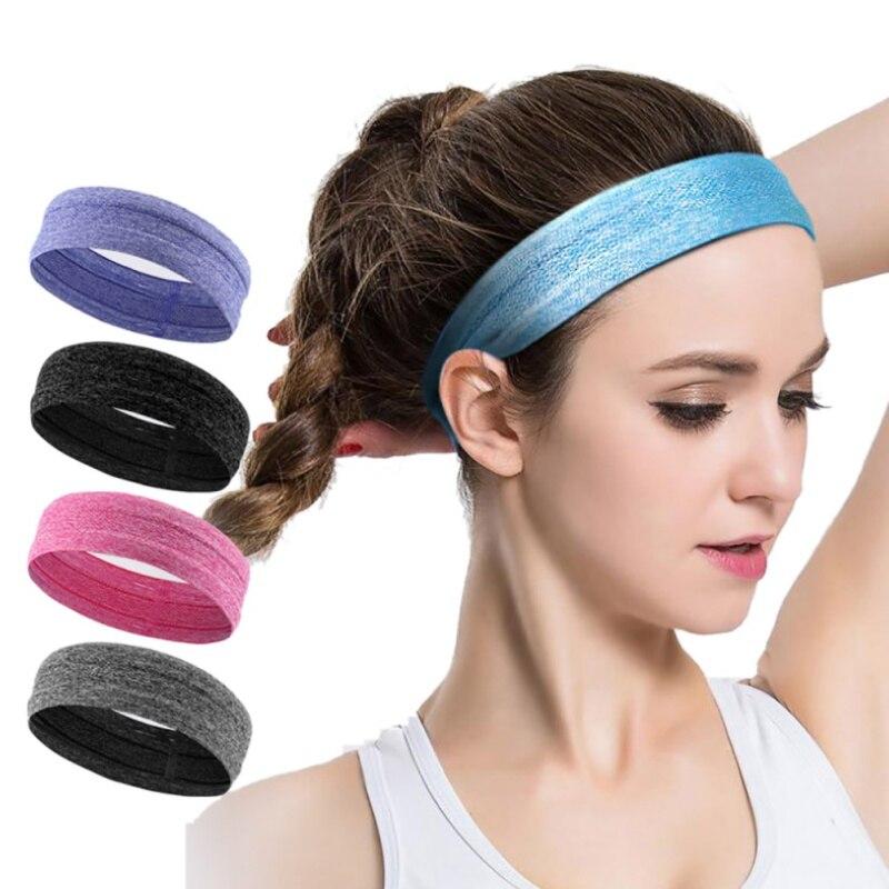 2018New Women Men Anti-slip Elastic Yoga Football Running Tennis overgrip Sports Headband Rubber Badminton Sweatband