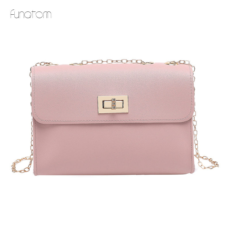 2019 Hot Crossbody Bags For Women Casual Mini Candy Color Chains Messenger Bag For Girls Flap Pu Leather Shoulder Bags
