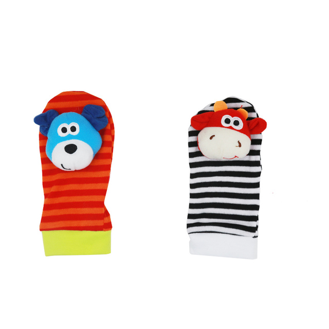 Infant Baby Kids Socks rattle toys Wrist Rattle and Foot Socks 0~24 Months 20% off 5