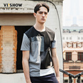 VIISHOW Summer Tshirt Men Cotton Casual Men T-Shirt Plaid Short Sleeve T Shirt Men Homme Luxury Camisetas Top Tees TD50862