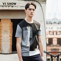 VIISHOW Summer Tshirt Men Cotton Casual Men T Shirt Plaid Short Sleeve T Shirt Men Homme