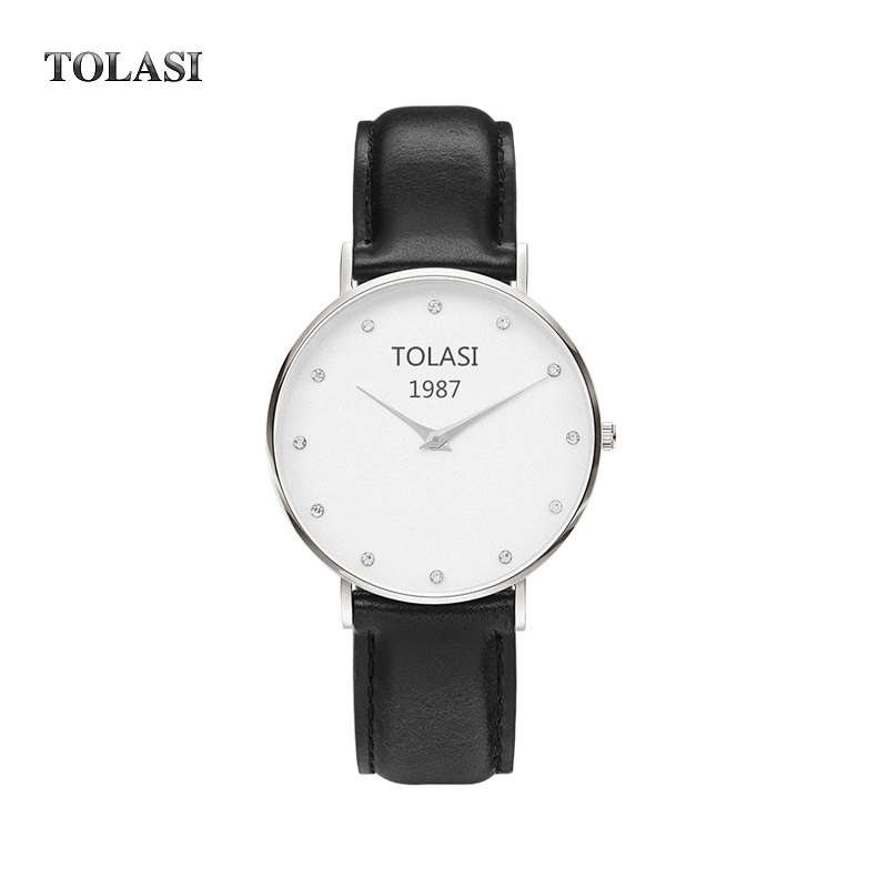 2017 Top Brand Watches Men Women High Quality dw style Leather Rose Gold Silver Clock 40cm Relogio Masculino Femme TOLASI 1987