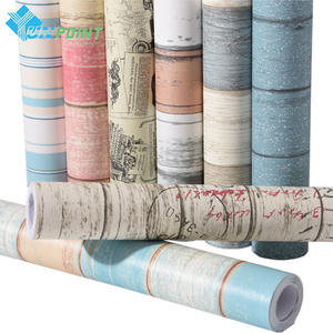 Furniture Renovation Wall Sticker Home Decor Wood Grain Self Adhesive Wallpaper Roll