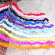 1 pcs 10g 2 meters length fluffy feather good quality super marabu boa for party suits shawl turkey