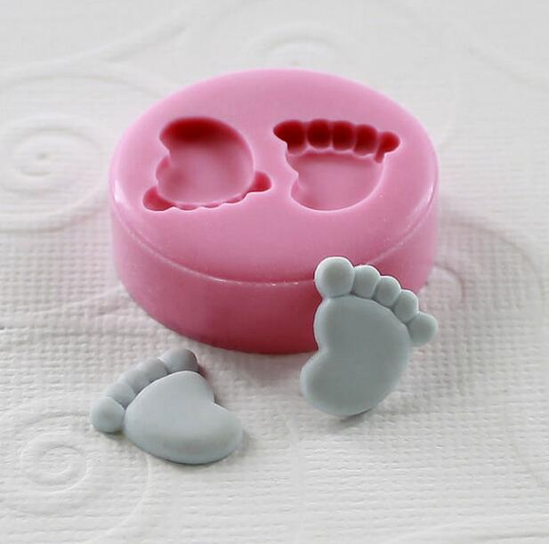Very Very Tinny 12mm Mini Feet Foot Silicone Fondant Mold For Cake Decorating Tools Cake mold Chocolate in Cake Molds from Home Garden