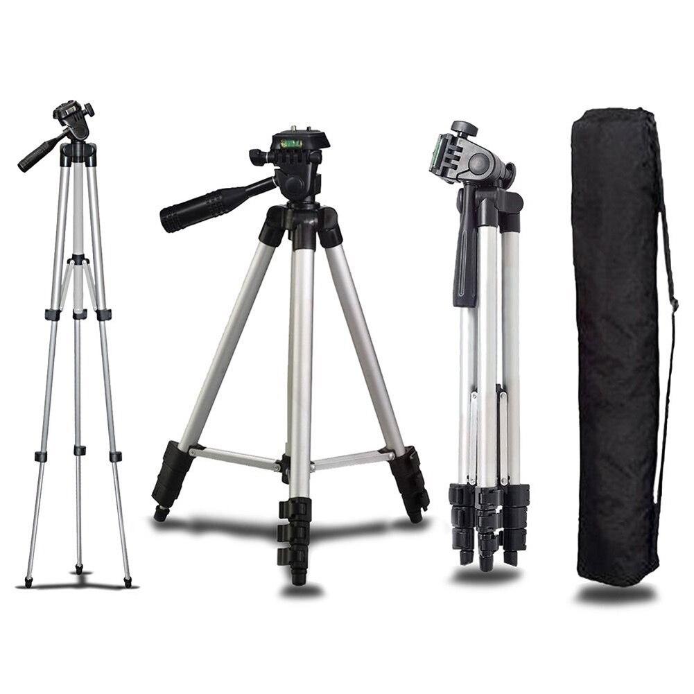 Universale Alluminio Portatile Professionale Camera Tripod Supporto Del Basamento & Bag per Canon Nikon Sony Panasonic Fotocamera Treppiedi