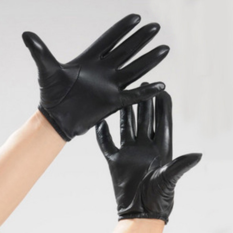 HIGHSHINE Prime Classic Men's Police Gloves Slim Fit Tactical Dress Glove Chauffeur Real Nappa Leather Gloves For Driving