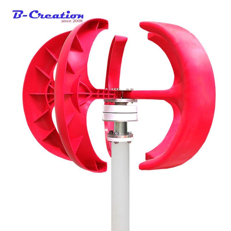 Red Lantern Style Vertical Axis 400w Wind Power Turbine Generator Automatic Adjustment VAWT 200W 100W 300W DC 12V 24V vawt dc 100w vertical axis wind turbine generator