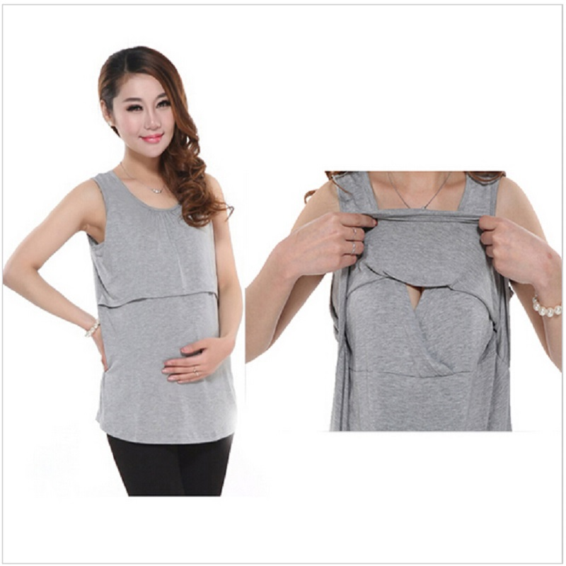 GGBAOFAN Summer Cotton Nursing Maternity Breastfeeding Tops Clothes for Pregnant Women T-shirt Plus Size Mothers blouses