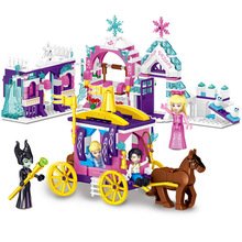 37066 4Set Girl Friends Princess Rapunzel Prince Ice Castle Carriage Legoings Building Blocks Brick Toy все цены