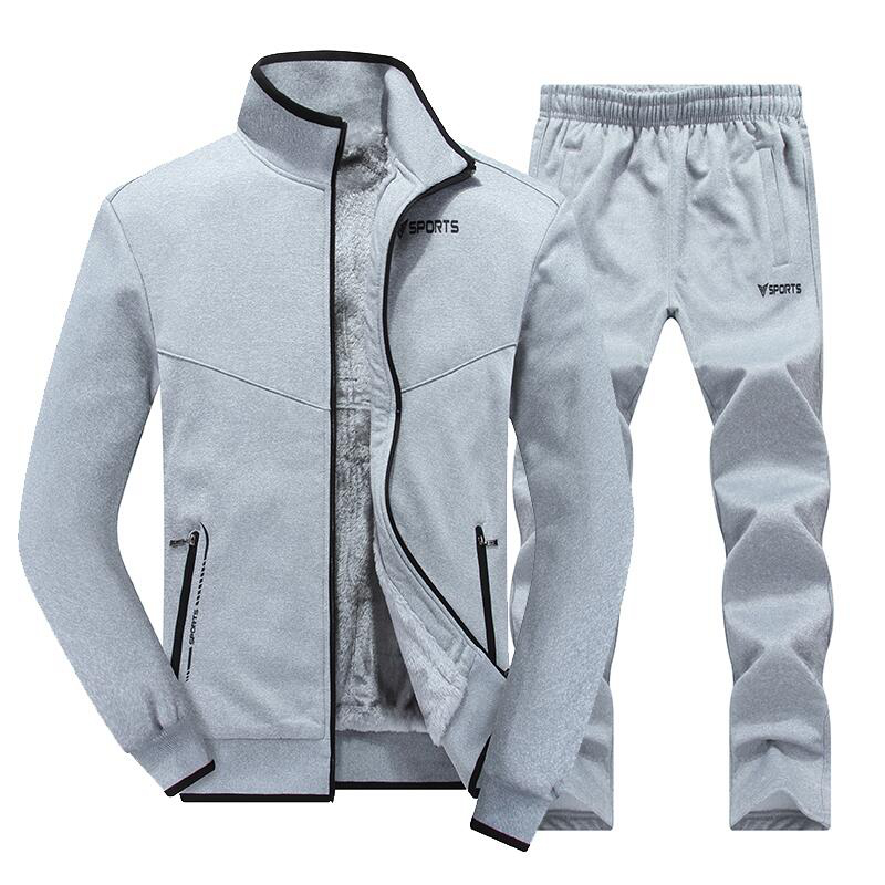 Hot Brand big size Men sports suit outdoor warm Long sleeve two-piece Track suit Man winter Sportswear Running sets  L-5XL куртка кожаная mango mango ma002ewyan28