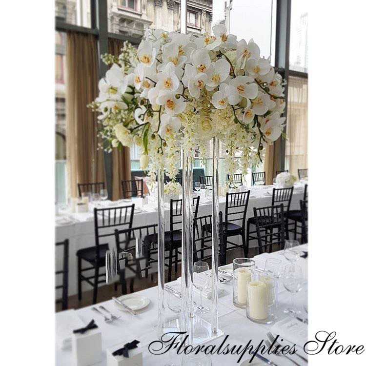 For Flower Wedding Wholesale Centerpiece Decoration Floral Table Acrylic Marriage Clear Flower Stand Vase Luxury Vase Columns