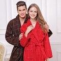 Toalha de algodão roupão mulheres sexy sleepwear roupão de banho para meninas cobertor espessamento amantes robe de médio-longo plus size inverno