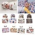 Baby Decke set Neugeborenen Handtuch Swaddle Decke Schlafen Swaddle Musselin Wrap Stirnband Set Fotografie Prop