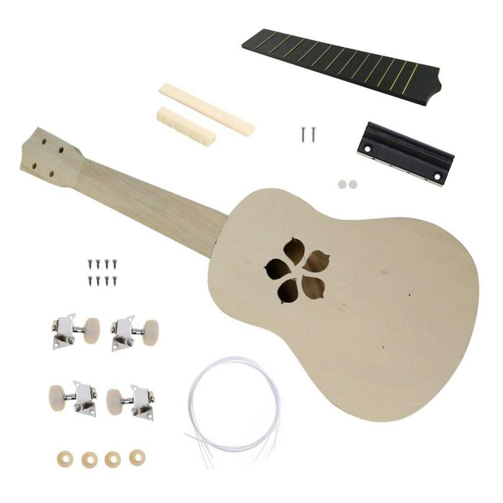 21 بوصة لتقوم بها بنفسك عدة القيثارة الزيزفون الجسم البلاستيك الأصابع الغيتار الصغيرة لتقوم بها بنفسك اليدوية الجمعية القيثارة آلة موسيقية