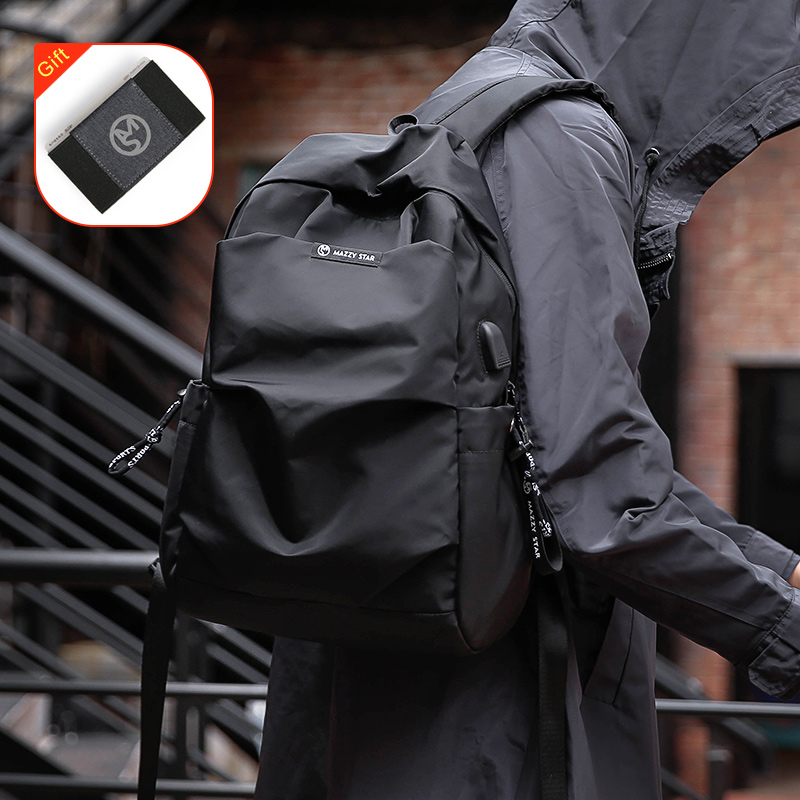 Mazzy Star New School Fashion Men Backpack Bag Water Proof Backpack Men External USB Charge Rucksack MS_936(China)