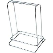 Household Mini Portable Stainless Steel Desktop Indoor Hanger Storage Organizer Silver