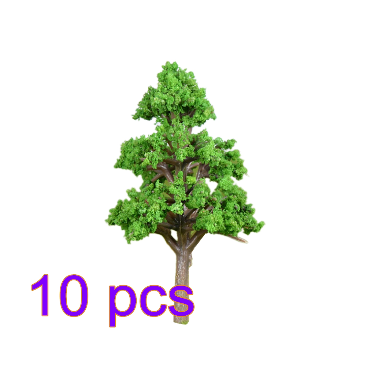 10 Pcs 4.3/6.4/8.7cm HO 1:85 Scale Medium Size Pine Tree Model Railroad Architecture Diorama Tree For DIY Scenery Landscape