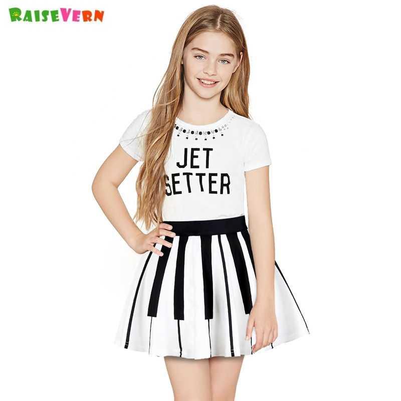 Summer Girls Short Skirt Tutu Skirt Piano Print Girls Skirts 8 9 10 11 Years Fashion Princess Party Dance Children Clothing Aliexpress