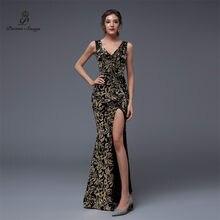 9341d06030 Wiersze piosenki podwójne V syrenka suknia wieczorowa suknie na bal  maturalny sukienka na imprezę vestido de festa elegancki w s.