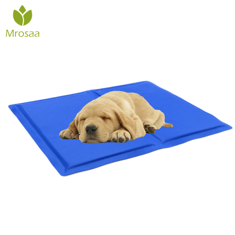 Mrosaac 1 PC Pet Dog Mat Car Cool Ice Pad Non Toxic Teddy Mattress Soft Cold Dogs House Mat Cushion Summer Keep cool Bed