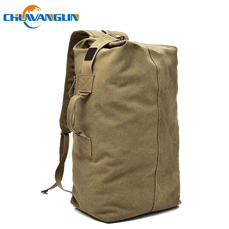 Chuwanglin Large Capacity Male Backpacks Casual Canvas Bucket Backpack Fashion Men's Travel Bags School Bags D091201