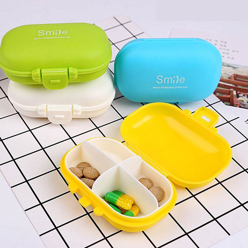 US $1 44 16% OFF|Kawaii Mini Portable Vitamin Box Medicine Kit Tablet Pill  Box Drug Case Food Organizer Storage Box Container 214-in Storage Boxes &