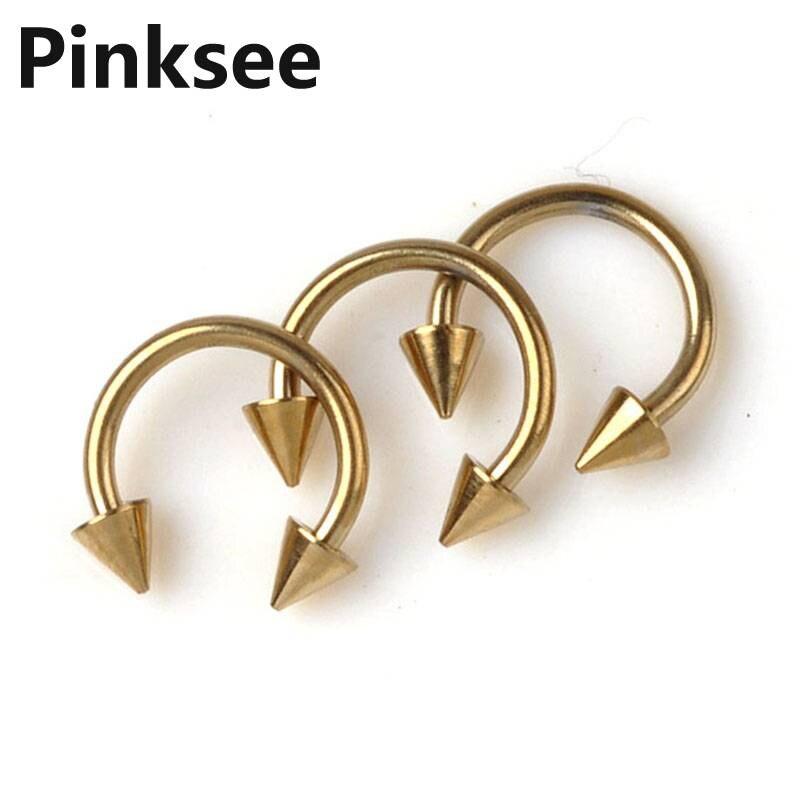 New Wholesale 50pcs Fashion Body Jewelry Lots U Shape Piercing Gold Tone Titanium Pierce Unisex