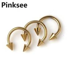 New Wholesale 50pcs Fashion Body Jewelry Lots U Shape Piercing Gold Tone Titanium Pierce Unisex