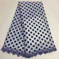 2019 New Design High Quality Swiss Voile Laces Switzerland Cotton African Dry Cotton Lace Fabric Nigerian Man Voile lace BK0017