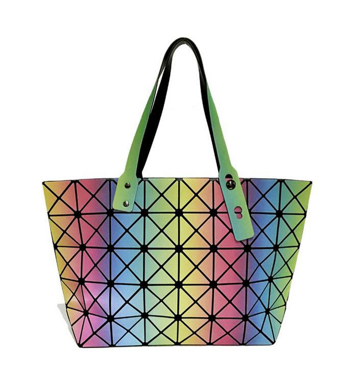 Maelove 2017 Uus stiil Naiste kott Geomeetria juhuslik tald õlakott - Käekotid - Foto 6