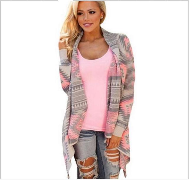 Womens pink Chothing Moda suéter cardigan 2016 Otoño Caliente de Invierno Suéter Flojo Atractivo Rebeca de Las Mujeres Más Tamaño cardigan Otoño de las mujeres