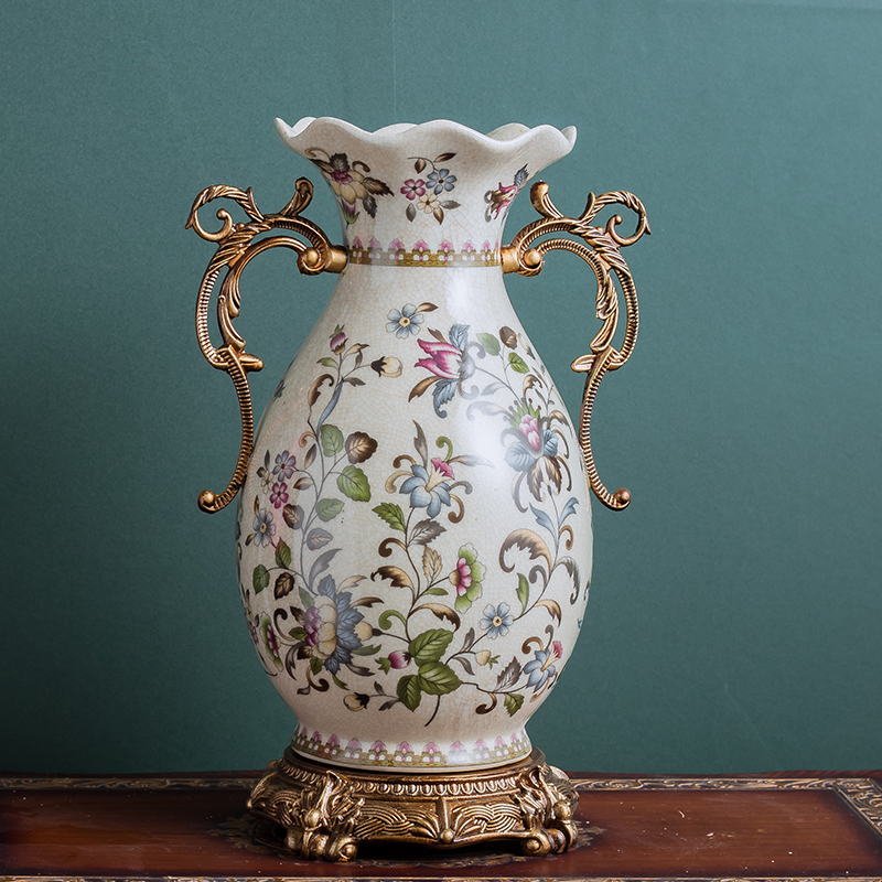 Europeo ornamenti vaso di soggiorno ceramica retro-di modo classico decorazioni per la casa ornamentiEuropeo ornamenti vaso di soggiorno ceramica retro-di modo classico decorazioni per la casa ornamenti