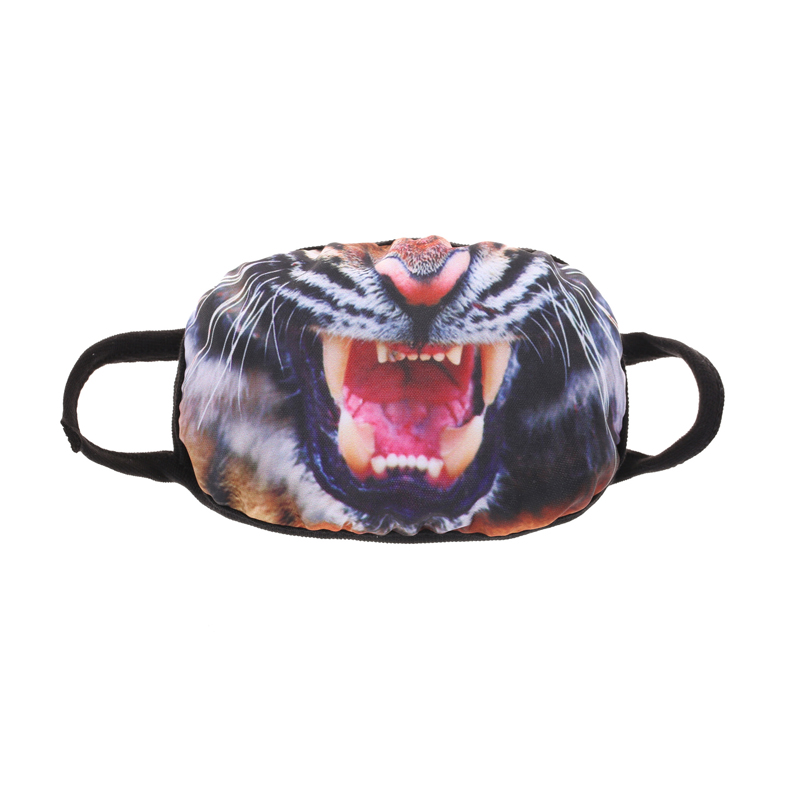 Cotton Animal Mask Funny Horror Mask Party Dance Funny Halloween Masquerade Mask Party Tiger Sharp Teeth Props