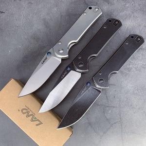 Image 1 - Couteau pliant de poche 12C27, avec lame en acier lavé, roulement à billes, camping, plein air 9104/916, portable de survie pêche edc