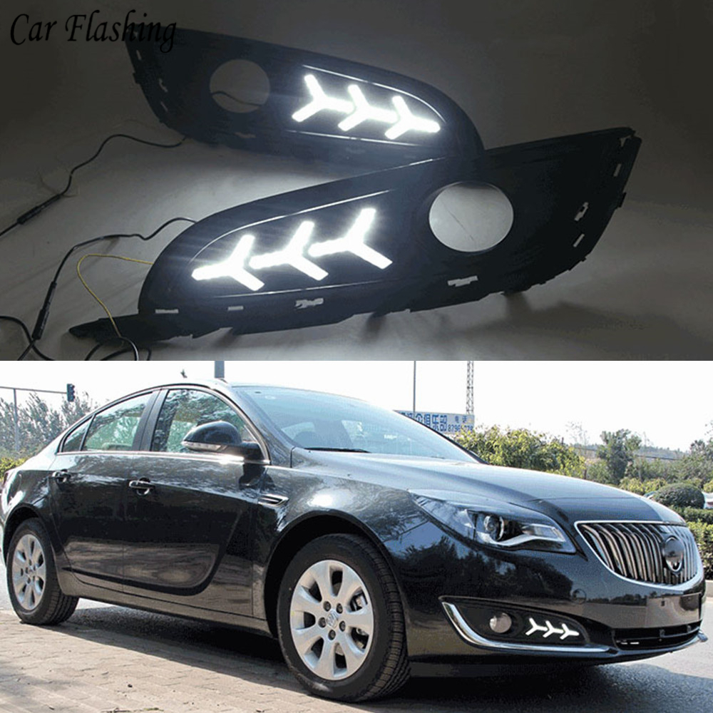 2PCS LED For Buick Opel Regal Insignia 2013 2014 2015 DRL Daytime Running Lights Daylight With