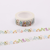 BP 2 PCS 1.5cmX10m Herbaceous Plant Washi Tape DIY Decoration Adhesive Tape Scrapbooking Masking Tape Label StickerWJ SMT117
